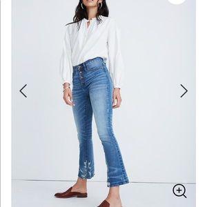 Madewell Cali Demi-Boot Jeans Bess Wash 28 NWOT